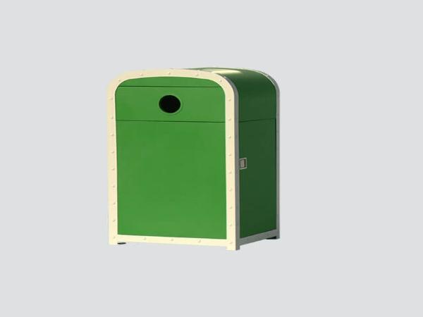 BS18 steel street waste bin